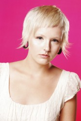 Very Short Platinum Blonde Pixie Haircut