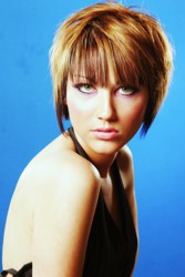 Short Layered Cap Hairstyle With Precision Placed Highlights And Lowlights