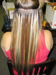 Hair extensions sizzling hot brigid k oconnor back view after individual strand heat fusion hair extensions 09 13 07 pmusecretfo Choice Image