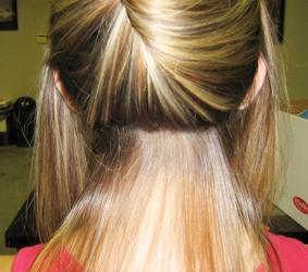 Do it yourself hair extensions pretipped individual strands brigid k oconnor first section before application of pre tipped strand extensions academy hair kit 09 13 07 solutioingenieria Image collections