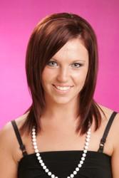 Below The Shoulder Sleek Bob Hairstyle In Merlot Red