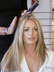Cat Deeley With Sexy Bone Straight Hair - Courtesy of Pantene