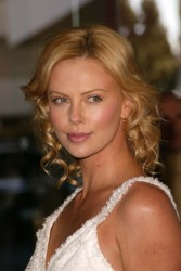 Charlize Theron With Blonde Curls
