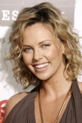 Charlize Theron With Tousled Mid Length Blonde Hair