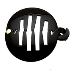 Black Banana Lock Hinged Comb In Rounded Shape