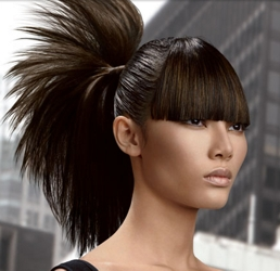 Tie All The Hair Into A Sleek And Loose Pony Such That Quiff Is Not Disturbed Re Adjust After You Ve Tied Your
