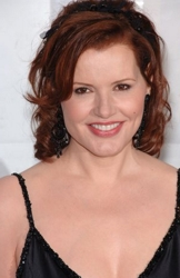 Geena Davis With Brushed Back Fringe