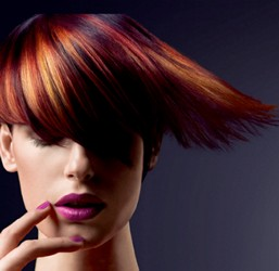 Vibrant Hair Color Rainbow Of Brunettes And Reds Intermingled