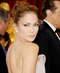 Jennifer Lopez With Hair Worn Up
