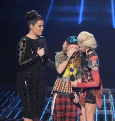 Khloé Kardashian With Beatrice Miller & CeCe Frey Hearing Results Of Judging