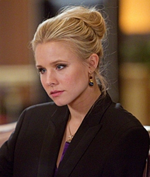 Blog about Kristen Bell's Bagel Bun Hairstyle