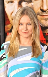 Kristen Bell With Ombre Style Straight Blonde Hair