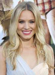 Kristen Bell's Long White Blonde Waves