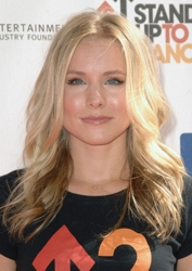 Kristen Bell With Baby Blonde Loosely Waved Hair
