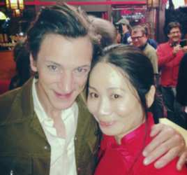 John Hawkes & Linda Wang On Lowdown - Courtesy Of Linda Wang - All Rights Reserved