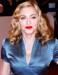 Madonna with shoulder length blonde waves