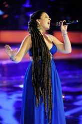 Naia Kete With Long Ankle Length Dreadlocked Hair On NBC's The Voice