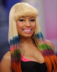 Nicki Minaj Hot Hair How To - Platinum Blonde Wig With Dip Dye Layers