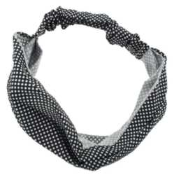 Soft Bandeau Style Polka Dot Headband