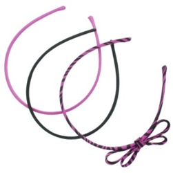 Karina Set Of Skinny Headbands In Pink And Black