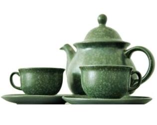 Tea Pot And Tea Cups For Hot Tea
