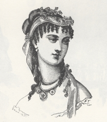 Ringlet Bangs in 1867 - Victorian Fashions & Costumers From Harper's Bazaar 1867-1898 Stella Blum - Dover Publications