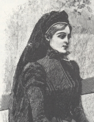 Side-Swept Bangs in 1898 - Victorian FAshions & Costumes From Harper's Bazaar - 1967 - 1898 - Stella Blum - Dover Publications