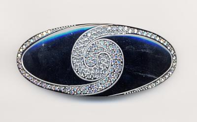 France Luxe - Swarovski Crystal Swirl Barrette