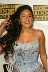 Q'Orianka Kilcher With Long All Natural Hair