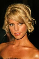 Jessica Simpson With Sideswept Bangs/Fringe