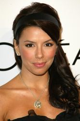 Eva Longoria with Long Over-The-Shoulder Lush Hairstyle