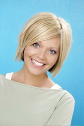 """This head hugging """"inverted"""" bob is a classic style that can be easily ..."""