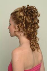 Barrel Curls - Finished Back View
