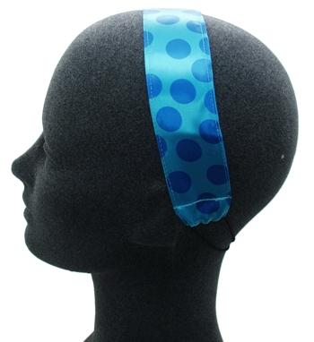 Rachel Weissman - Soft Headband - Polka Dots - Blue on Blue (1)