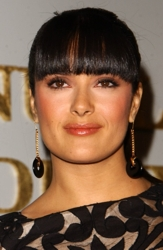 Salma Hayak With Full Frontal Blunt Cut Bangs